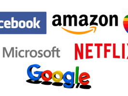 FAAMG: Facebook, amazon, apple, Microsoft, Netflix, Google